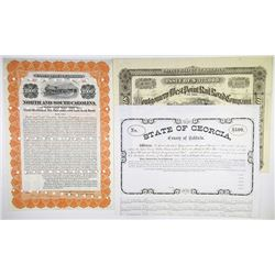Southern State Railroad Bond Trio, 1866-1914