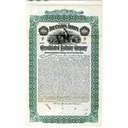 Canton-Akron Consolidated Railway Co. 1906 Specimen Bond Rarity