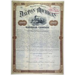 Dayton & Michigan Railroad Co. 1881 Unique Specimen Bond