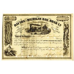 Dayton and Michigan Rail Road Co. 1869 I/C Stock Certificate