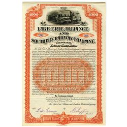 Lake Erie, Alliance and Southern Railway Co. 1887 I/U Bond