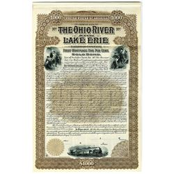 Ohio River and Lake Erie Railroad Co. 1897 Specimen Bond