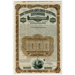 Toledo & Ohio Central Extension Railroad Co. 1888. I/U Bond.