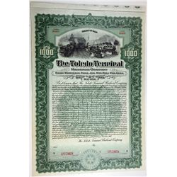 Toledo Terminal Railroad Co., 1907 Specimen Bond