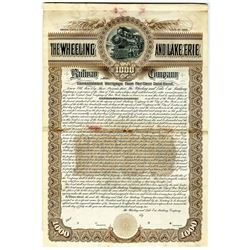 Wheeling and Lake Erie Railway Co. 1892 Specimen Bond