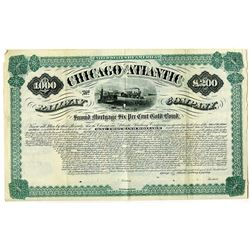 Chicago and Atlantic Railway Co. 1882 Specimen Bond