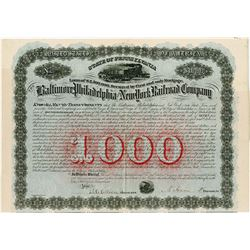 Baltimore, Philadelphia and New York Railroad Co., 1874 I/U Bond
