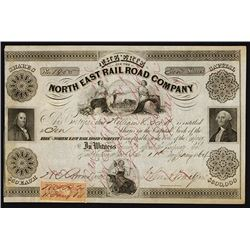 Erie & the North East Rail Road Co., 1864 Stock Certificate