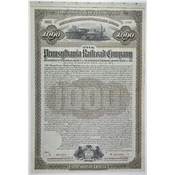 Pennsylvania Railroad Co. 1915 Specimen Bond