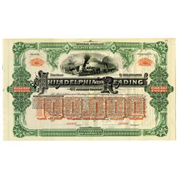 Philadelphia and Reading Railroad Co., 1888, $100,000 Specimen Bond Rarity.