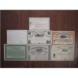 Pennsylvania & New York Railroad Stock Certificate Assortment, ca.1856-1917.