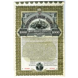 Spartanburg, Union and Columbia Railroad Co., 1895 Specimen Bond.