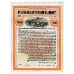 Chattanooga Station Co. 1907 Specimen Bond