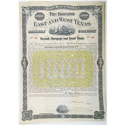 Houston, East and West Texas Railway Co. 1883 I/U Bond
