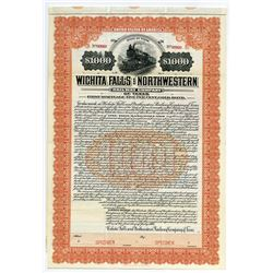 Wichita Falls and Northwestern Railway Co. of Texas, Specimen Bond.