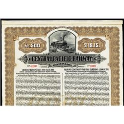 "Central Pacific Railway Co. 1911 Specimen ""4% 35 Year European loan of 1911"" Bond."