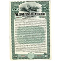 Atlantic Land and Improvement Co., 1909 Specimen Bond.