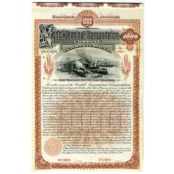 Norfolk Terminal and Transportation Co. 1898 Specimen Bond Rarity