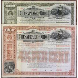 Chesapeake and Ohio Railway Co. 1892 Specimen Bond Pair