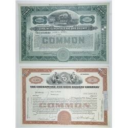 Southern State Railroad Group of 7 Bonds, 1882-1974