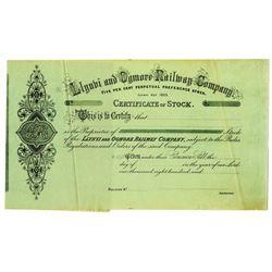 Llynvi and Ogmore Railway Co. 1840-70's Specimen Stock Certificate
