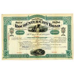 Rochester City Bond, 1880 Specimen Bond.