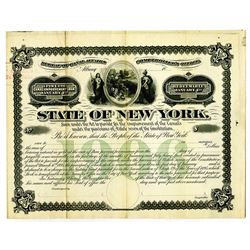 State of New York 1895 Specimen Canal Improvement Loan