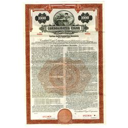 Consolidated Cigar Co. 1943 Specimen Bond.