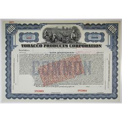Tobacco Products Corp. Specimen Stock Certificate