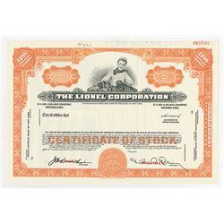 Lionel Corp., 1963 Specimen Stock Certificate