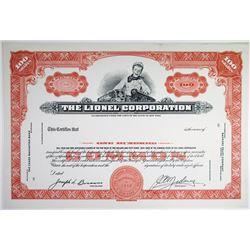 The Lionel Corp., 1940-50's Specimen Stock Certificate