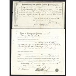 Chambersburg and Bedford Turnpike Road Co, 1904 Stock Certificates