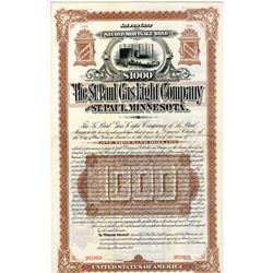 St. Paul Gas Light Co., 1887 Specimen Bond