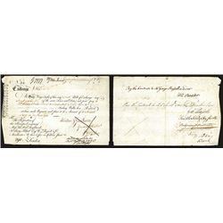 Principio Company 1769 Colonial Bill of Exchange.