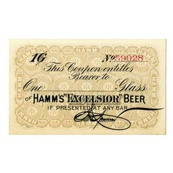 Theodore Hamm Brewing Co. ND (ca. 1880s-1890s). Scrip/Advertising Note.