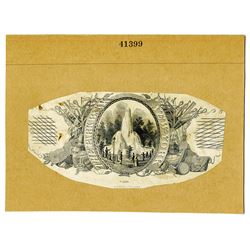 The Park Bank New-York, ND (ca.1850-60's) Proof Obsolete Banknote Back.