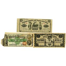 Charlotte, Columbia and Augusta Rail Road, 1873 Obsolete Scrip Note & Others (ca. 1920s). Railroad &