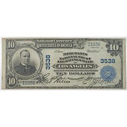 Merchants National Trust and Savings Bank of Los Angeles, 1900, $10 PB, Ch#3538.