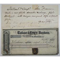 Tallant & Co., Bankers, Specimen-Model Checks, ca.1860-1880's.