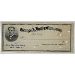 George A. Fuller Co., 1890-1900 Specimen Check
