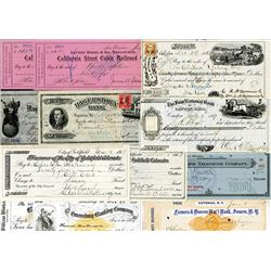 Group of 21 U.S. & World Checks, ca.1862 to 1963.