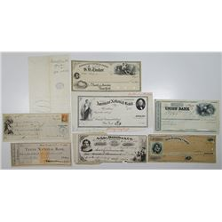 Proof, Specimen and Production Design Files for Checks and Drafts, ca.1860-1880's.