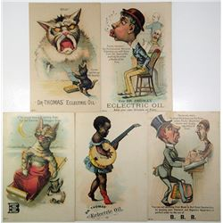 Burdock Blood Bitters & Dr. Thomas' Electric Oil. ND (ca. 1890s-1900s). Quartet of Advertising Trade