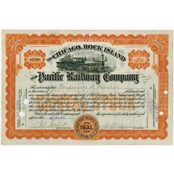 Chicago, Rock Island and Pacific 1915 Stock Certificate ITADSB Frederick H. Meserve.
