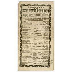 Jersey City Grammar School in Aid of Poor of Jersey City, NJ, 1858 Program by Children of the School