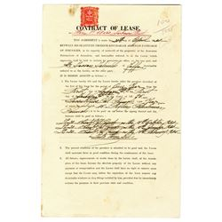 Armenian Patriarchate of Jerusalem 1934 Lease Contract