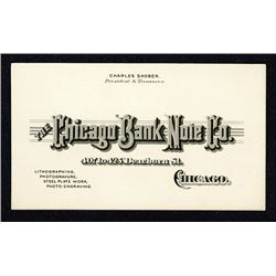 Chicago Bank Note Co., ND ca.1880-1900 Intaglio Printed Business Card.