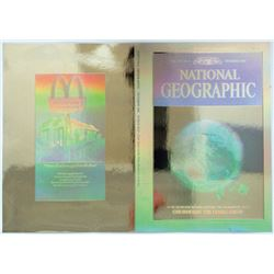 "ABNC, Unfolded 1988 Proof National Geographic Hologram Covers, ""Fragile Earth"" With Vintage Holograp"