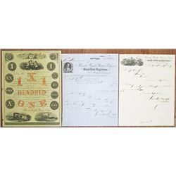 Rawdon Wright, Hatch & Edison ca.1855 to 1859 Advertising Sheet and Letterheads.