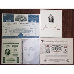 American Bank Note Company Ephemera Group Lot